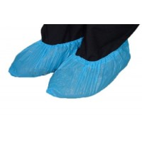 Cipővédő lábzsák fólia kék érdesített körgumis CPE 3g