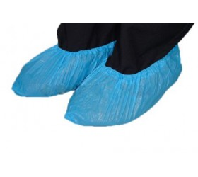 Cipővédő lábzsák fólia (kék érdesített körgumis PE)